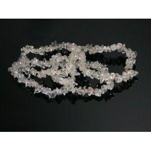 Pulsera Chip Cuarzo Blanco o Cristal de Roca