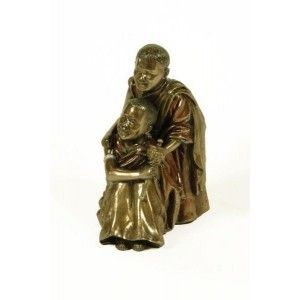 Figura hermanos monje tibetanos
