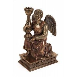 Figura portavelas ángel
