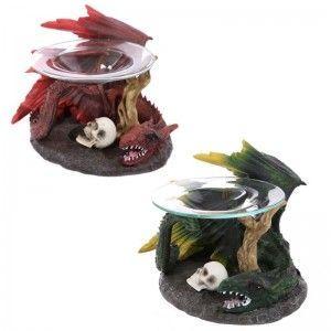 Quemador de Aceite Dragón con Calaveras