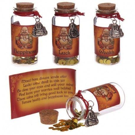 Tarro de los Deseos de Buda de la suerte