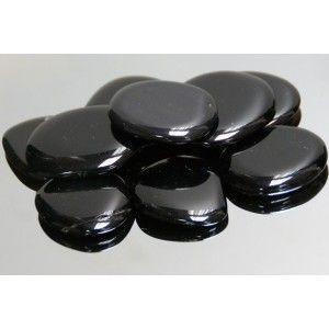Rodado Plano Obsidiana Negra