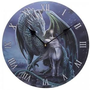 Reloj de Pared - Dragón Protector y Unicornio Mágico Lisa Parker