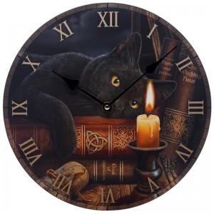 Reloj de Pared - Gato de Brujas - Lisa Parker